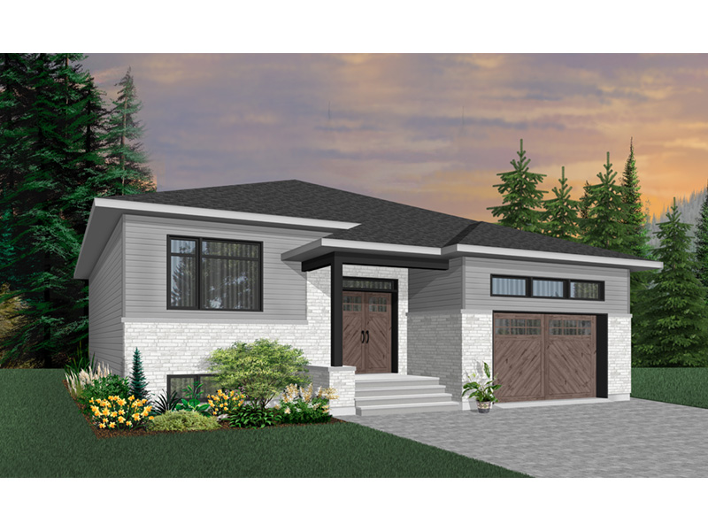 Ranch House Plan Front Photo 04 - Moxie Modern Prairie Home 032D-0839 | House Plans and More