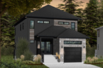 Front of Home - Malina Modern Prairie Home 032D-0856 | House Plans and More