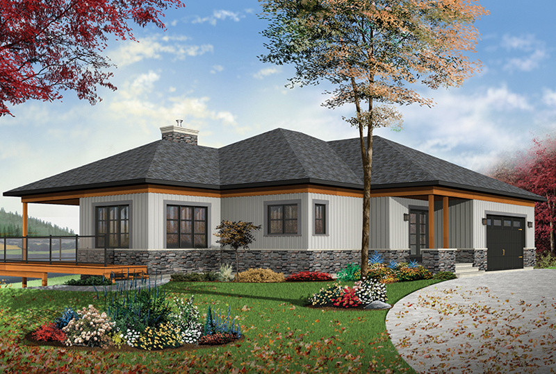 Ranch House Plan Front of Home - 032D-0862 | House Plans and More