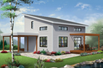 Front of Home - Proctor Modern Two-Story Home 032D-0863   House Plans and More
