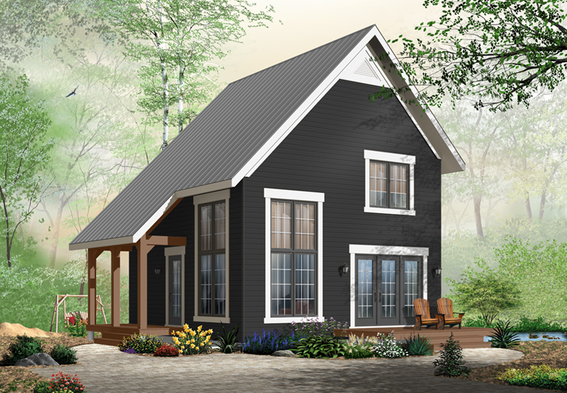 Contemporary House Plan Front of Home - 032D-0935 | House Plans and More