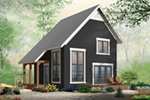 Saltbox House Plan Front of Home - 032D-0935 | House Plans and More