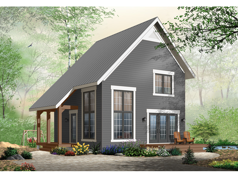 Saltbox House Plan Front Photo 03 - 032D-0935 | House Plans and More