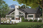 Craftsman House Plan Front of Home - 032D-1076 | House Plans and More