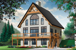 Rustic Home Plan Front of Home - 032D-1085 | House Plans and More