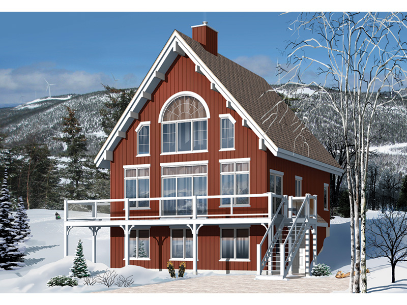 Rustic Home Plan Front Photo 01 - 032D-1085 | House Plans and More