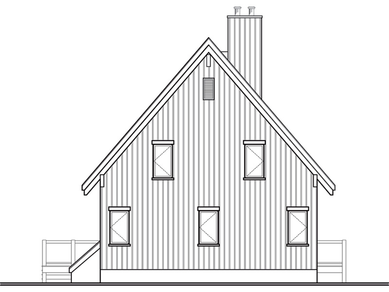 Rustic Home Plan Rear Photo 01 - 032D-1085 | House Plans and More