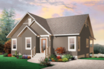 Cabin & Cottage House Plan Front of Home - 032D-1086 | House Plans and More