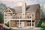 Cabin & Cottage House Plan Rear Photo 01 - 032D-1086 | House Plans and More