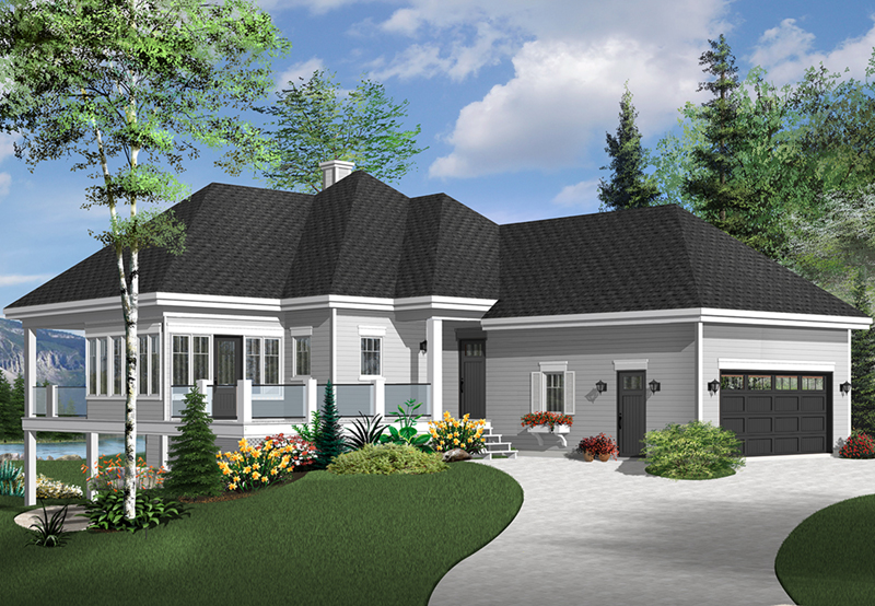 Mountain Home Plan Front of Home - 032D-1087 | House Plans and More