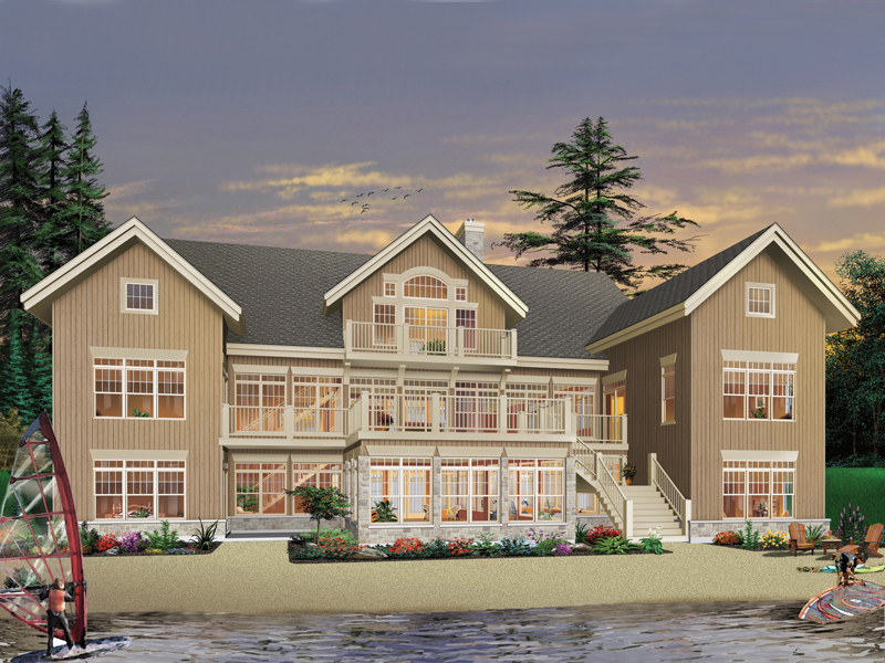 Waterfront Home Plan Front of Home 032S-0003