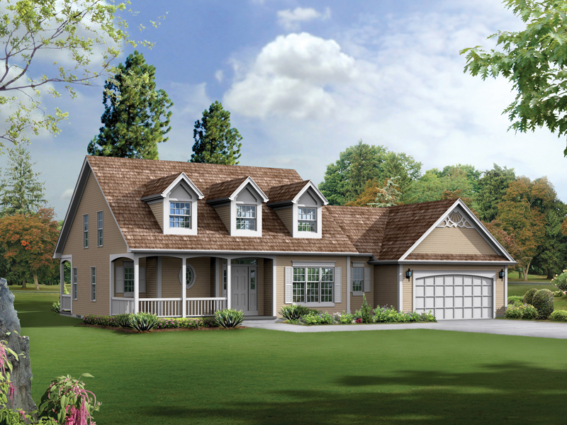 Hillview country home plan 033d 0009 house plans and more for 2 story house plans with dormers