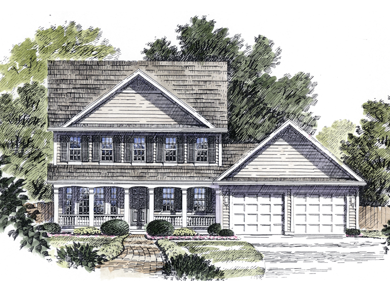 Dallhart colonial country home plan 034d 0017 house for Colonial country house plans