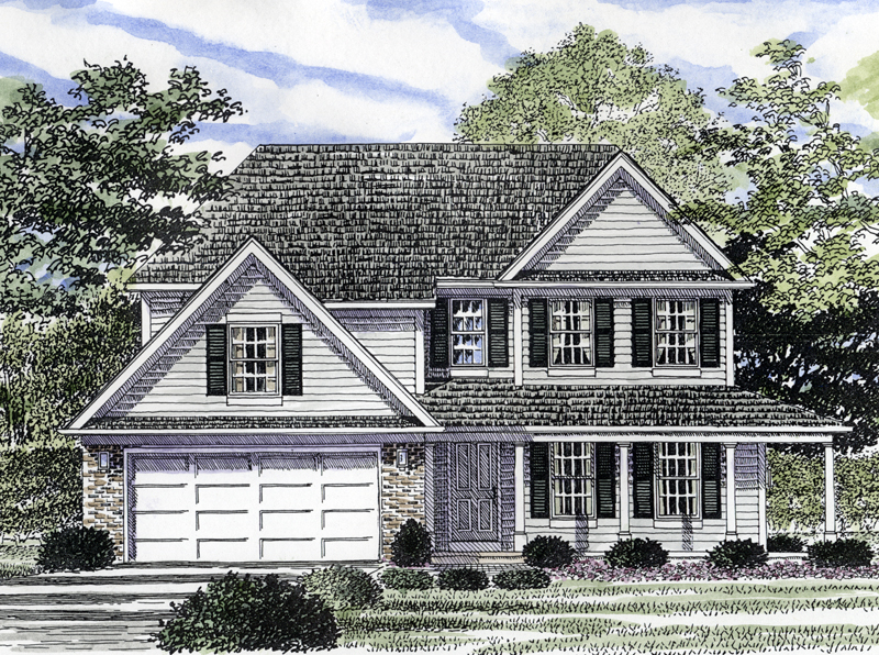 Garden hill colonial style home plan 034d 0041 house for Classic colonial home plans