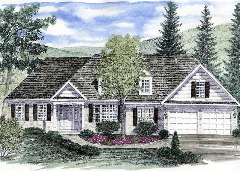 Grandfalls colonial ranch home plan 034d 0044 house plans and more - Elegant colonial architectural designs ...