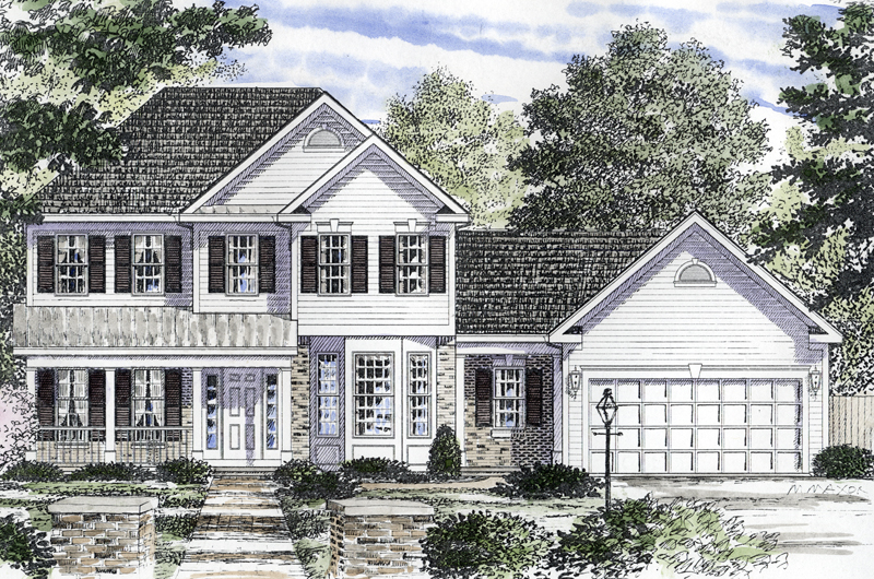 Second Story Porch House Plans