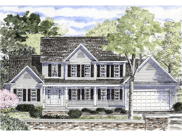 Southern colonial house plans floor plans for Southern colonial house plans
