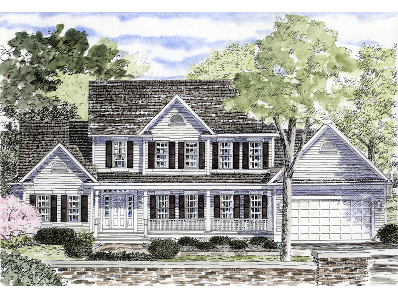 Presidio Southern Colonial Home Plan 034d 0053 House