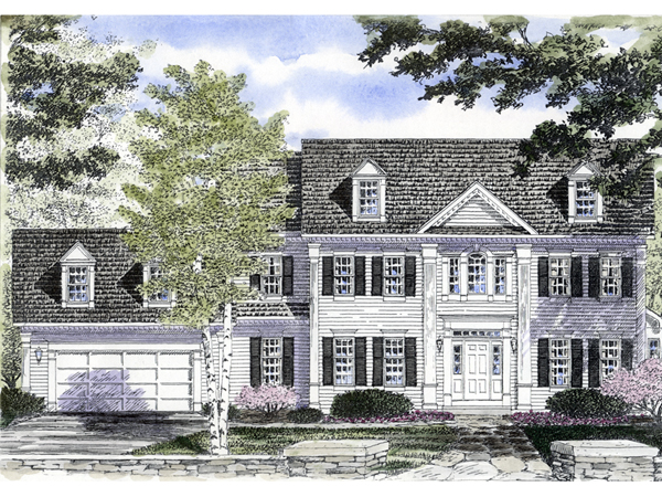 Mabelle Georgian Colonial Home Plan 034d 0061 House
