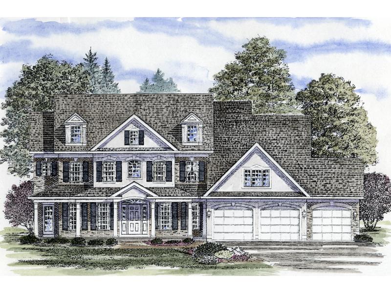 bonham place colonial farmhouse plan 034d-0064 | house plans and more