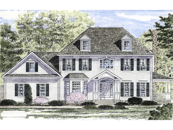 Clawson georgian colonial home plan 034d 0075 house for Georgian home plans