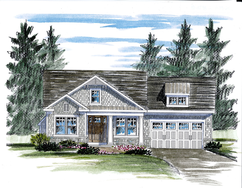 Ranch House Plan Front of Home - 034D-0104 | House Plans and More