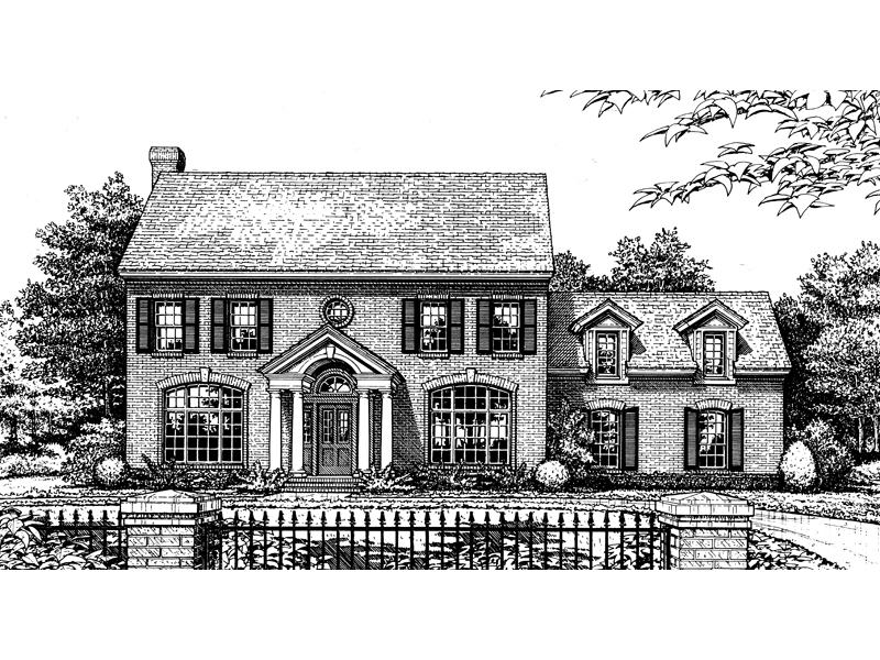 Dutton Georgian Colonial Home Plan 036d 0031 House Plans