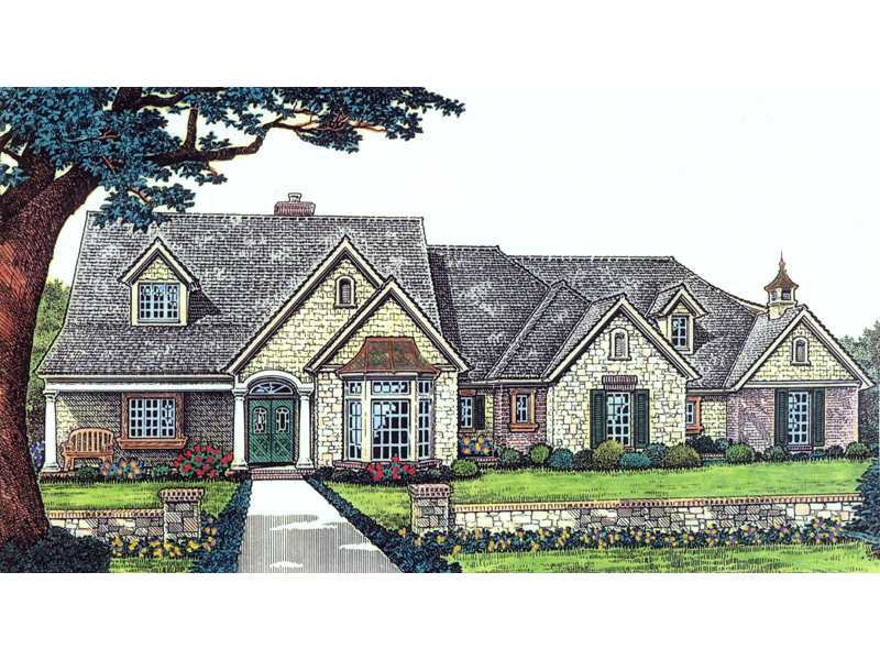 Langer Country Ranch Farmhouse Plan 036D 0110 House Plans and More