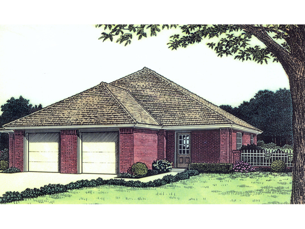 Twin springs ranch duplex plan 036d 0123 house plans and for Ranch duplex plans