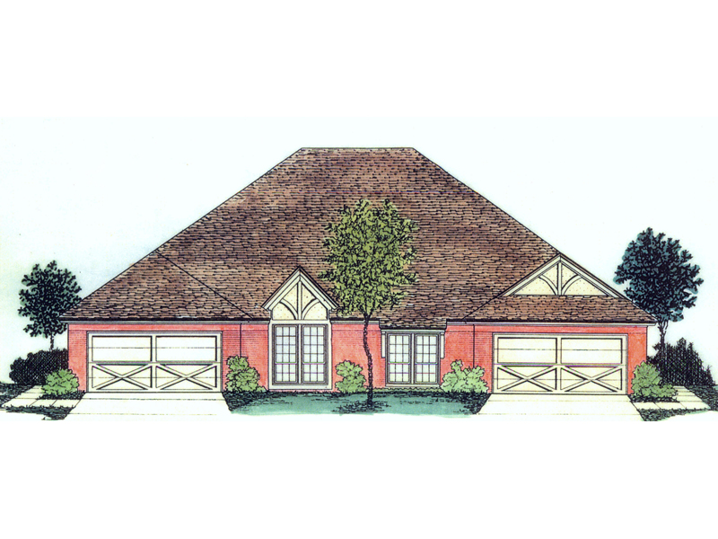 Dagenham Tudor Style Duplex Plan 036D-0125 | House Plans and More