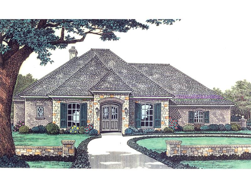 Pardella European Ranch Home Plan 036D 0137 House Plans