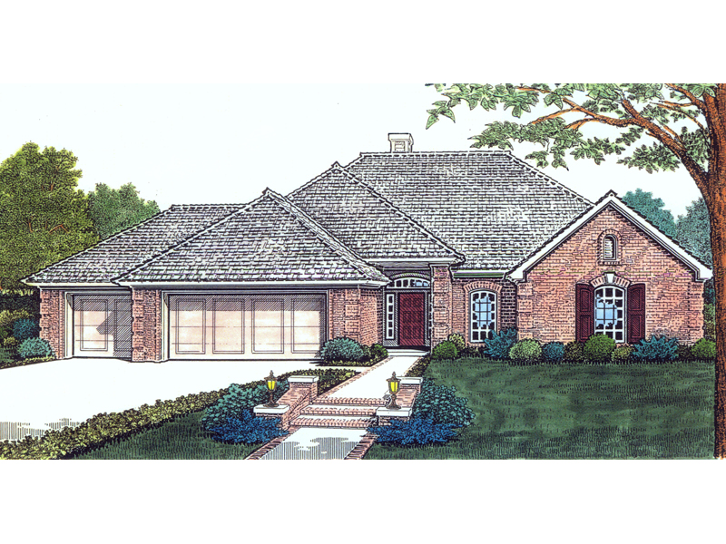 Ekland traditional ranch home plan 036d 0147 house plans for Traditional ranch home plans