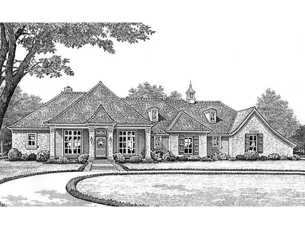 Zinfandel Traditional Ranch Home Plan 036d 0152 House