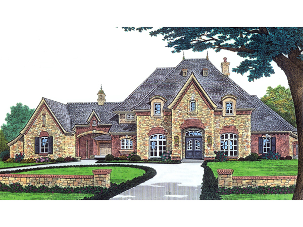 Stefano luxury european home plan 036d 0156 house plans One story european house plans