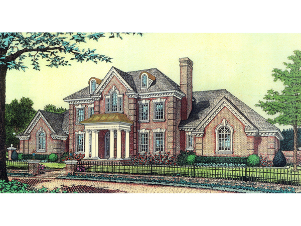 Anssonnette luxury colonial home plan 036d 0174 house for Colonial luxury house plans
