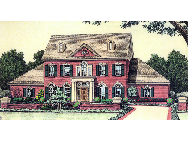 Carson early american home plan 036d 0177 house plans Early american home plans