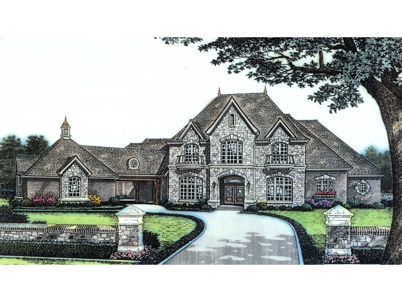 Terrific european luxury house plans gallery plan 3d for Luxury european home plans