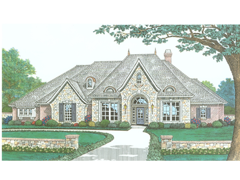 Delightful European House Plan Front Image   036D 0199 | House Plans And More Awesome Design