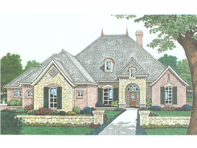Ranch House Plan Front Image - 036D-0200 | House Plans and More