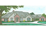Traditional House Plan Front of Home - 036D-0202   House Plans and More