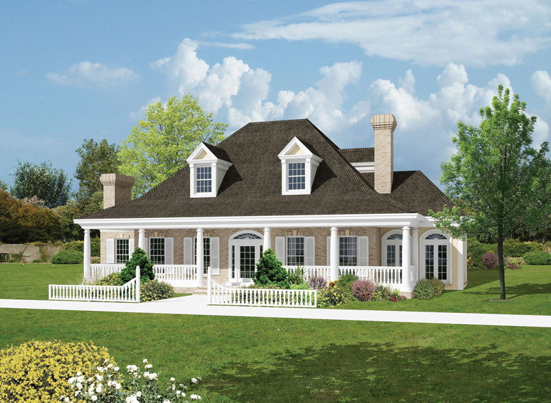 Farmhouse plan front image 037d 0005 house plans and more