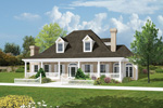 Cape Cod and New England Plan Front Image - 037D-0005 | House Plans and More