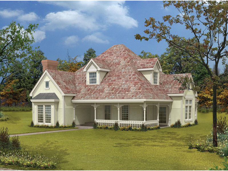 Victorian House Plan Front of Home 037D-0007
