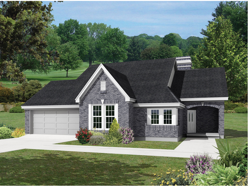 Traditional House Plan Front of Home - 037D-0012 | House Plans and More
