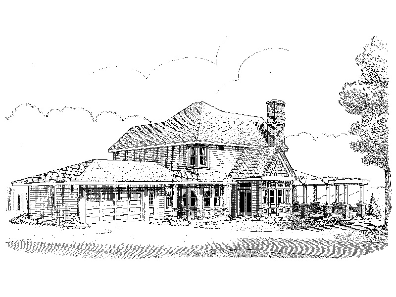 Southern House Plan Front Image of House - 037D-0013 | House Plans and More