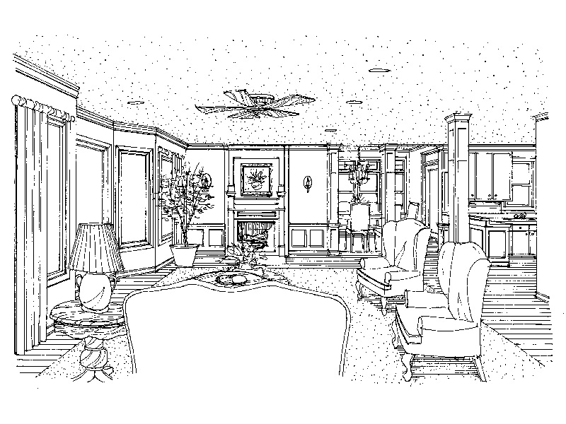 Southern House Plan Great Room Photo 01 - 037D-0013 | House Plans and More