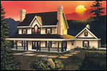 Farmhouse Plan Front Image - 037D-0014 | House Plans and More