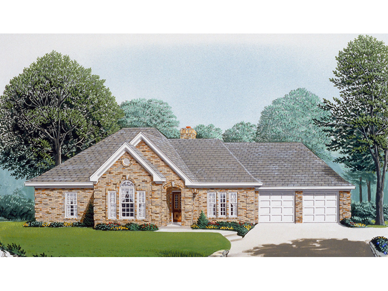 Ranch House Plan Front Image - 037D-0020 | House Plans and More