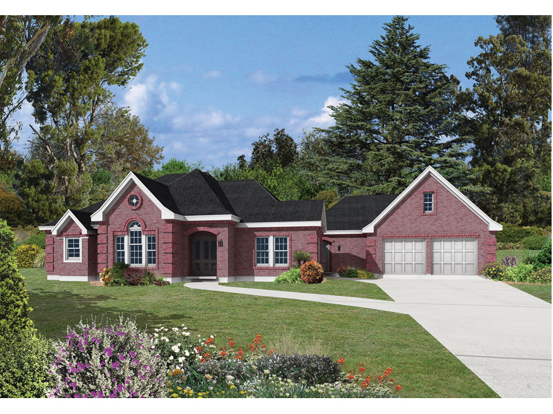 Traditional House Plan Front Photo 01 - 037D-0021 | House Plans and More