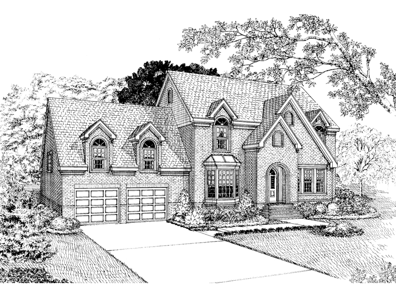 Country French House Plan Front of Home - 037D-0027 | House Plans and More